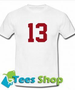 13 Font T Shirt
