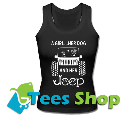 A Girl A Dog And Her Jeep Tank Top