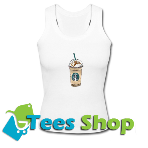 Cartoon Starbucks Drinks Tanktop