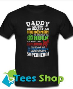 Father's Day Super Hero Marvel T-Shirt