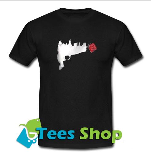 Gun Flowers T Shirt