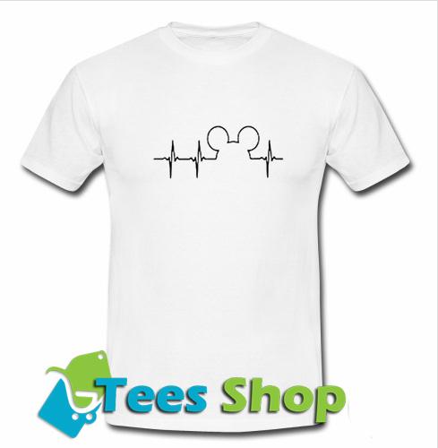 94bd1d1a Mickey Mouse Heartbeat T-Shirt - teesshops