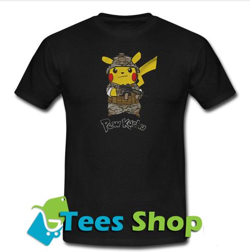412198ee Pikachu (Pew kachu) Army T-Shirt - teesshops