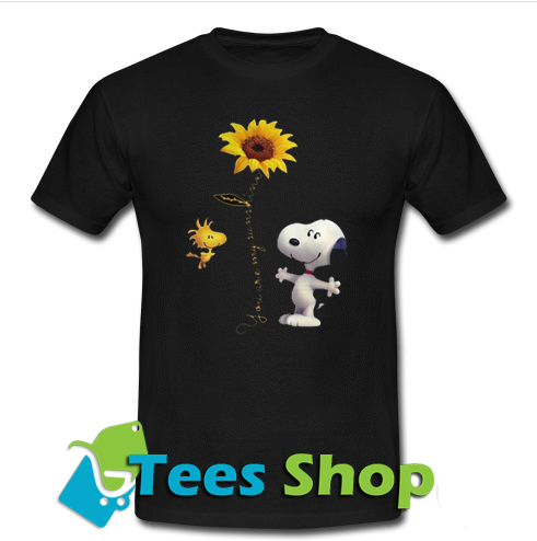 Snoopy and Woodstock sunflower T-Shirt