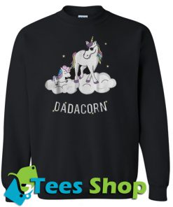 Unicorn Best Dad Fathe Dadacorn Sweatshirt