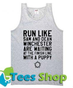 Run Like Sam And Dean Tank Top