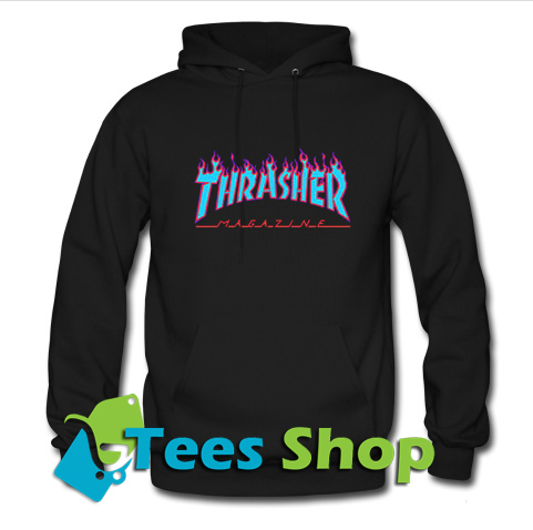 Thrasher Purple blue Flame Hoodie