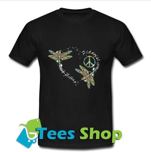 Peaceful Easy Feeling Dragonfly T Shirt