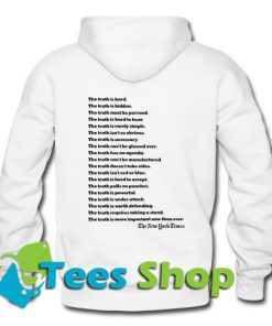 The New York Times Truth Back Hoodie
