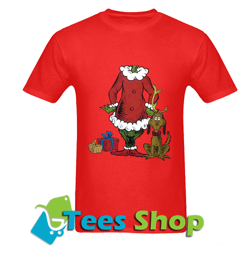 Chirsmas Grinch Dr. Suess n Max Dog T Shirt