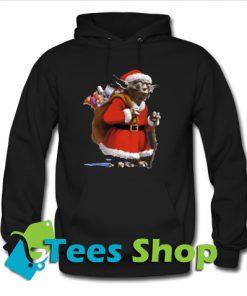 Star Wars Yoda Dressed as Santa Claus Hoodie