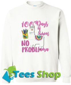 100 Days School LLama Teachers Sweatshirt_SM1