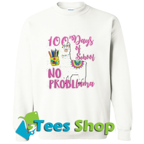 100 Days School LLama Teachers Sweatshirt_SM1