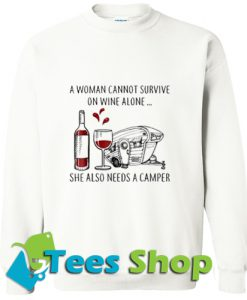 A woman cannot survive Sweatshirt_SM1