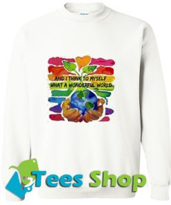 And I think to myself what a wonderful world water color 7 DIY Sweatshirt_SM1