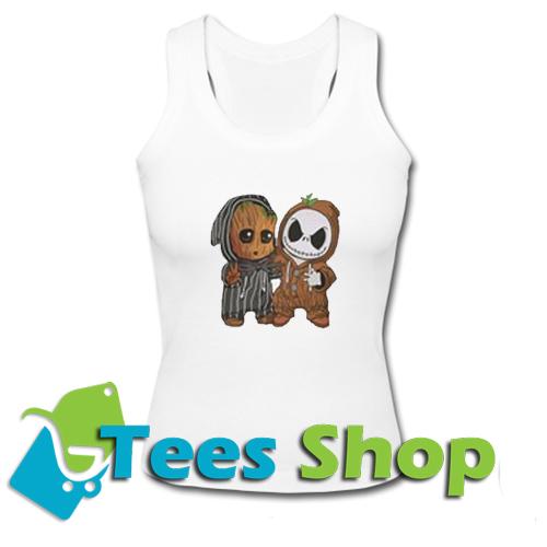 Baby Groot and Baby Jack Skellington Tank Top_SM1