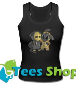 Baby Groot and Toothless Tank Top_SM1