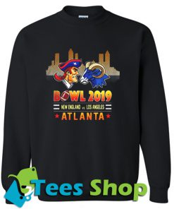 Bowl 2019 New England Patriots vs Los Angeles Sweatshirt_SM1