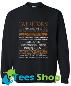 Carpricorn amazing in bed their love Sweatshirt