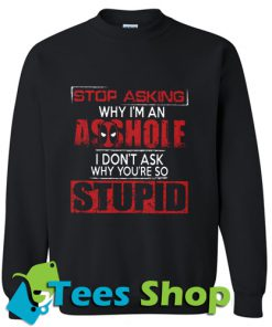 Stop Asking Why I'm An Sweatshirt_SM1
