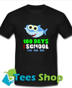100 Days Of School Baby Shark Doo Do T Shirt_SM1