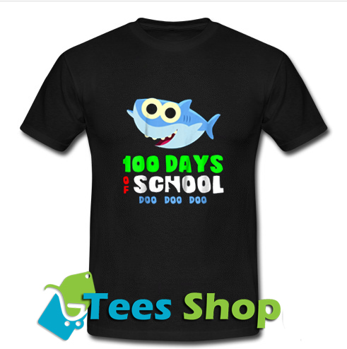 100 Days Of School Baby Shark Doo Do T Shirt_SM1