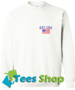 American Flag Print Sweatshirt_SM1