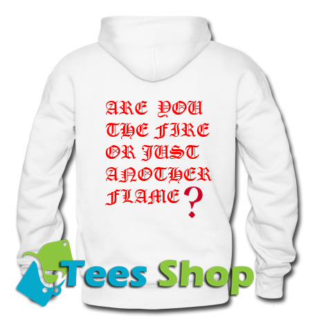 Are You The Fire Or Just Another Flame Back Hoodie_SM1