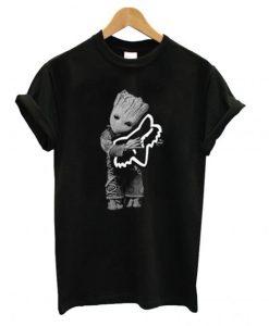 Baby Groot hug Fox Racing T shirt