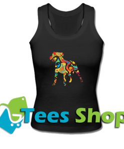 Psychedelic Staffordshire Bull Terrier Tank Top_SM1