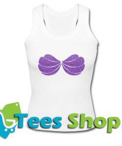 Purple Glitter Ariel Mermaid Shell Tank Top_SM1