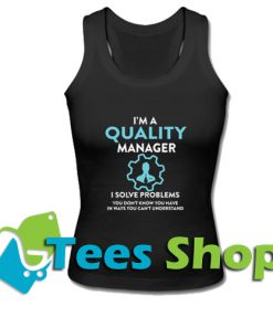 Quality manager Racerback Tank Top_SM1