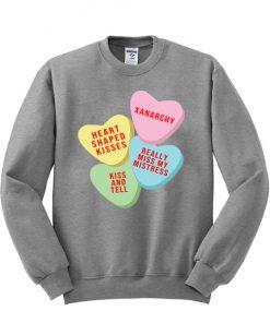 Xanarchy candy Heart Pink Sweatshirt