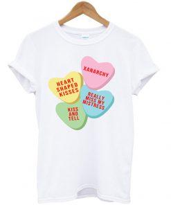 Xanarchy candy Heart Pink T shirt
