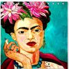 2019 Home Decor Eco Friendly Personalized Fashion Frida Kahlo Waterproof Mildew Resistant Polyester Fabric Bath Shower Curtain AT