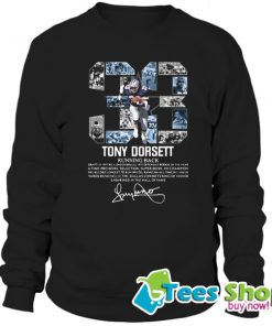 33 Tony Dorsett Running Back Signature Sweatshirt STW