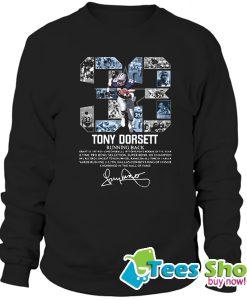 33 Tony Dorsett Running Back Signature Sweatshirt STW