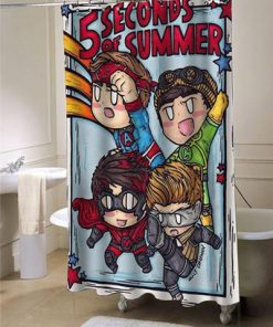 5 Second Of Summer shower-curtain AT