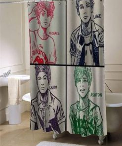 5 sos shower curtain customized AT