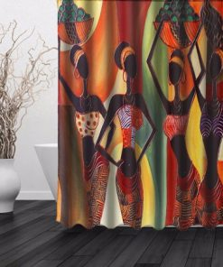 African Woman Waterproof Bathroom Shower Curtain AT