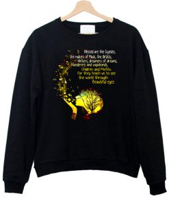 Blessed Are The Gypsies The Makers Of Music The Artists Writers And Vagabonds Beautiful Eyes Sweatshirt AT
