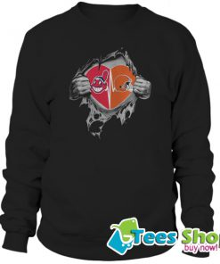 Browns Indians It's In My Heart Inside Me Sweatshirt STW
