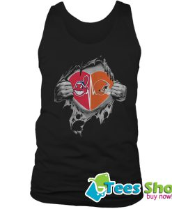 Browns Indians It's In My Heart Inside Me Tank Top STW