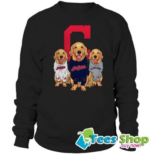 Golden Retriever Cleveland Indians Sweatshirt STW