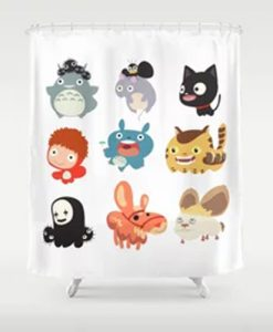 all caracter studio gibli Shower Curtain AT