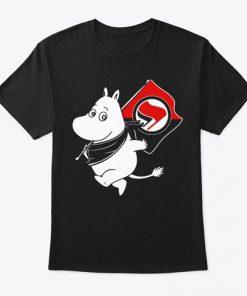 Antifa Moomin Anti-Fascist T Shirt SN