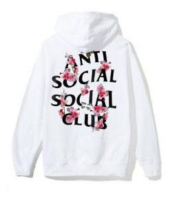 Auth Anti Social Social Club ASSC logo Kkoch White Hoodie flower hoody supreme1