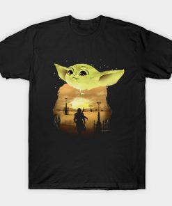 Baby Yoda Sunset T shirt SN
