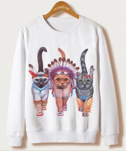 Sweatshirt Women Cat EL