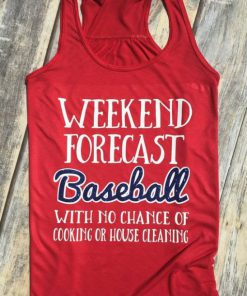 Weekend Forecast Baseball Tank Top